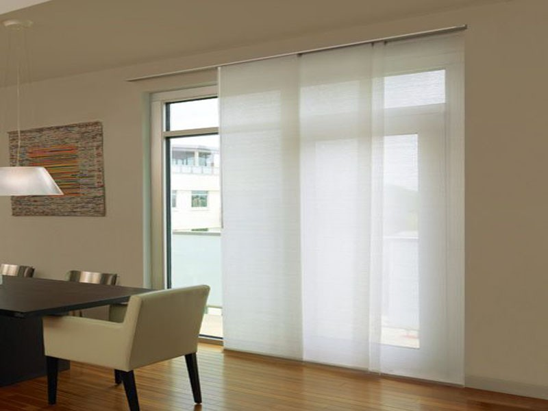 panel blinds and track